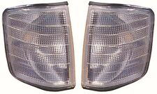 Mercedes Benz 190E 1986-1993 Clear Front Indicator Lights 1 Pair O/S & N/S