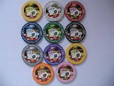 Tournament Clay sample set poker chips 11 unid.