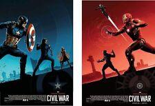 Captain America Civil War AMC IMAX EXCLUSIVE Team Cap/Ironman # 1 & 2 of 3