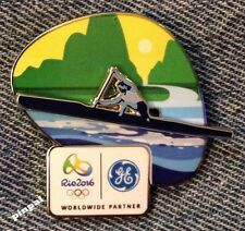 Canoe~Kayak Olympic Sponsor Pin~2016 RIO Logo~Slider~3D~GE~General Electric