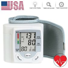 Blood Pressure Monitor Auto Heart Rate Checker BP Cuff Wrist Pulse Arm Meter US