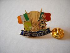 a1 SPORTING FINGAL - MARITIMO cup uefa europa league 2011 football calcio pins