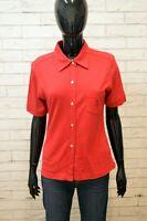 Maglia Donna TRUSSARDI JEANS Maglietta Taglia M Polo Shirt Woman Camicia Rossa