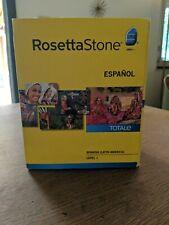Rosetta Stone Espanol Totale Level 1 Spanish Latin America Version 4