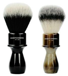 MASETO - Memphis 24mm/26mm Silvertip & Two Band Synthetic Fiber Shaving Brush