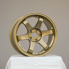4 ROTA WHEEL GRID  17X10  5X114.3 50 73 GOLD LAST SET