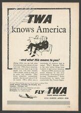 TWA Trans World Airlines 1954 Vintage Reader's Digest Print Ad