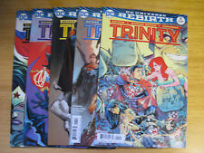 TRINITY REBIRTH #1,2,3,4,5. ALL 1ST PRINTS. BATMAN, SUPERMAN, WONDERWOMAN.