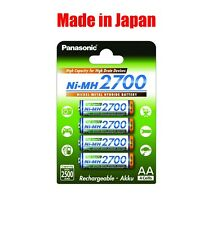 Panasonic High Capacity rechargeable AA battery Ni-MH 2700mAh 4pk