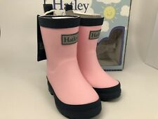 Hatley Kids' Toddler Classic Rain Boots, Pink & Navy, 4 US Child