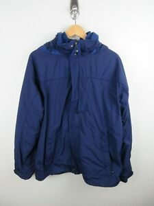 LL Bean Rain Jacket Mens Size M Coat Zip Heavy Weight Hooded Removal Lining