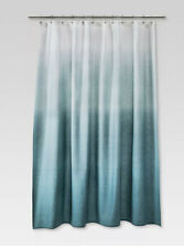 Threshold Cool Ombre Fabric Shower Curtain Blue/Aqua/White NEW!