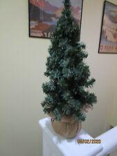 Artifical christmas tree hessian type pot