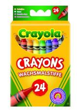 CRAYOLA CRAYONS - 24 ASSORTED COLOURS COLOURING WAX CRAYONS ART DRAWING