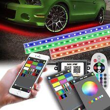 Luces LED de Neon para abajo de Carro con Bluetooh y Control Remoto!