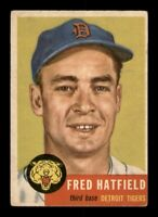 1953 Topps Set Break # 163 Fred Hatfield EX *OBGcards*