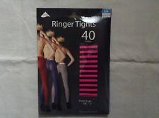 Pretty legs 40 denier luxury patterned stripes tights bnib