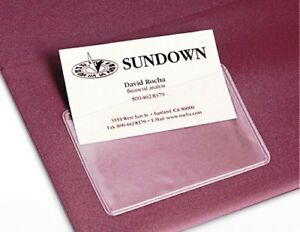 Self Adhesive Sticky Back MEMBERSHIP & ID CARD HOLDER Clear Transparent PVC .