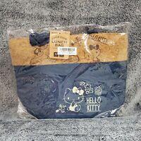 "NEW Skater Hello Kitty Cork Denim 13"" Insulated Lunch Bag Sanrio Japan Toreba"