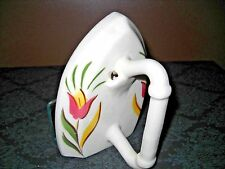 Vintage Porcelain Napkin Holder-iron-painted-