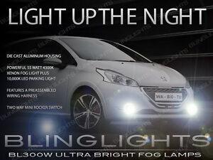 Peugeot 208 Xenon Halogen Driving Lamps Fog Lights Kit Pair Set + Harness Switch
