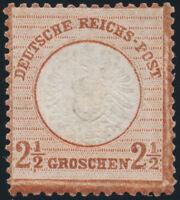 DR 1872, MiNr. 21 b, ungebraucht ohne Gummi, Befund Sommer, Mi. 3200,-