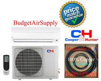 Cooper Hunter 18K  Btu Ductless Mini Split 17.7 Seer inverter 230V FREE XTRAS