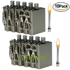 10pcs Instant Survival Magnesium Fire Starter 15,000 Matches in One Flint Metal