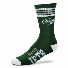 New York Jets Men's Crew Socks Medium Size 5 to 10 4 Stripe
