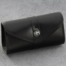 YAMAHA ROAD STAR BLACK LEATHER WINDSHIELD STORAGE BAG FRONT POUCH