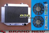 3 Core Aluminum Radiator for HOLDEN KINGSWOOD HQ HJ HX HZ 71-80 6 CYL + 2* Fan