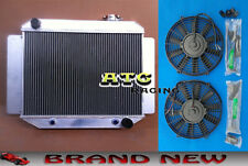 3 Core Aluminum Radiator for HOLDEN KINGSWOOD HQ HJ HX HZ 71-80 6 CYL + 2* Fan