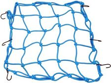 UNIVERSAL MOTORCYCLE CARGO NET WITH HOOKS BLUE COLOR