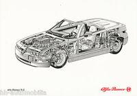 0248AL Alfa Romeo RZ Zagato Bildprospekt 1992 Röntgenzeichnung Prospekt