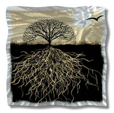 Abstract Metal Wall Art Landscape Home Decor Tree Roots Modern Wall Sculpture