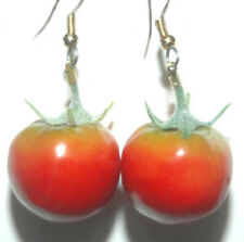 FUN CHERRY TOMATO DANGLE EARRINGS (D004)