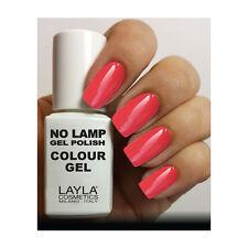 Layla Cosmetics Milano Lamp Gel Polish-smalto per le Unghie Rich colore Corall