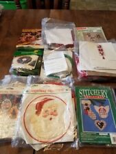 10 Embroidery Kits  You Choose:  Wonderart, Bernat,  Christmas Embroidery, Bead
