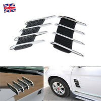 2PCS UNIVERSAL CHROME CAR BONNET AIR INTAKE FLOW SIDE FENDER VENT HOOD