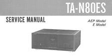 SONY TA-N80ES, TA-N90ES Schematic Diagram Service Manual Schaltplan Schematique