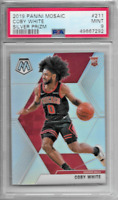 2019-20 PANINI MOSAIC COBY WHITE SILVER PRIZM PSA 9 MINT CHICAGO BULLS #211