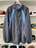 Vintage 2000s Nike Swoosh Zip Windbreaker Jacket Sz XL Blue Logo Air Rare Retro
