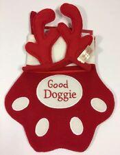 New Good Doggie CHRISTMAS STOCKING Paw Reindeer Headband Dan Dee Collectors Set