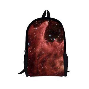 Boys Girls Galaxy Pattern School Bag Polyester Backpack Travel Bags Teenagers