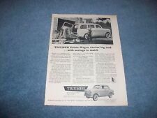 """1959 Triumph Estate Wagon Vintage Ad """"Carries Big Load...With Savings to Match"""""""