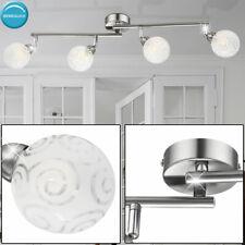 Spot Ceiling Light Chrome Lighting movable living room glass ball oblong modern