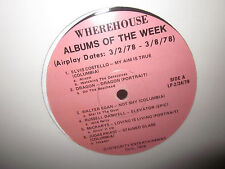 WHEREHOUSE RECORDS ALBUMS OF THE WEEK 1978 LP ELVIS COSTELLO