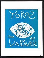 1980s Vintage Pablo Picasso Vallauris Toros Bullfighting 57 Poster Art Print