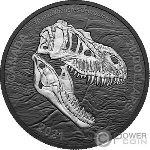 REAPER OF DEATH Discovering Dinosaurs 1 Oz Silver Coin 20$ Canada 2021