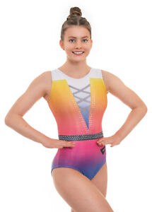 Glint Rainbow Deluxe Adults and Girls Gymnastics Leotard for Competition Dance